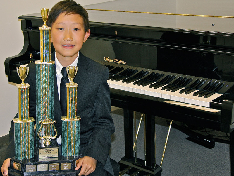 Taylor Ma - First Place & Trophy Winner, North Shore Piano Competition, 2015